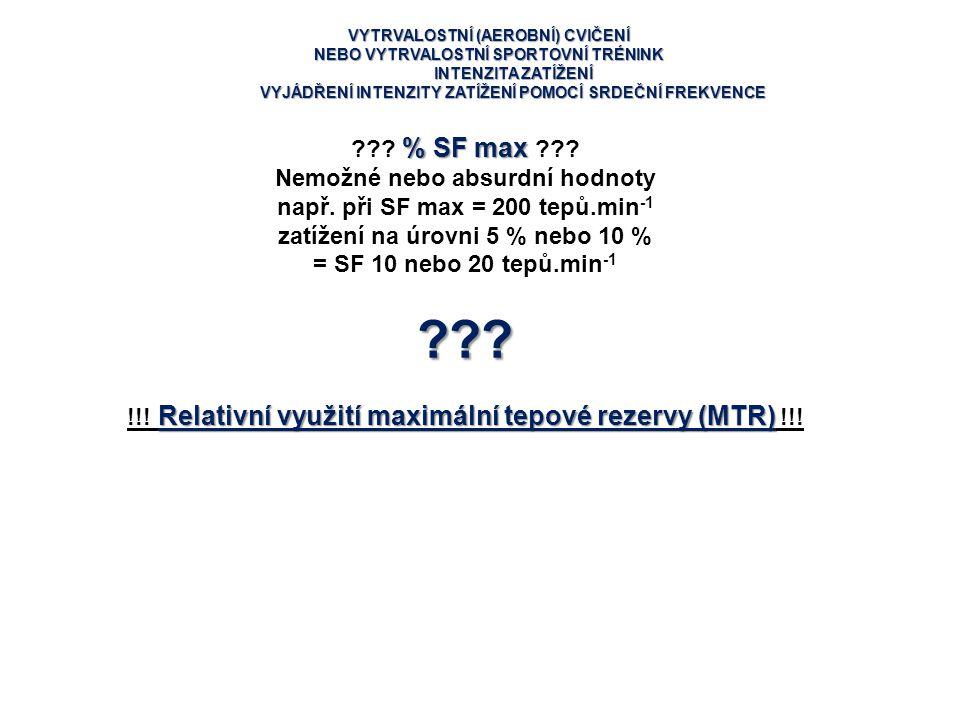 % SF max Nemožné nebo absurdní hodnoty