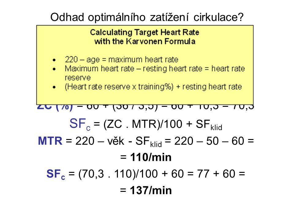 Odhad optimálního zatížení cirkulace