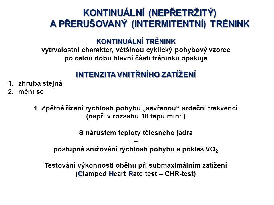 KONTINUÁLNÍ (NEPŘETRŽITÝ) A PŘERUŠOVANÝ (INTERMITENTNÍ) TRÉNINK