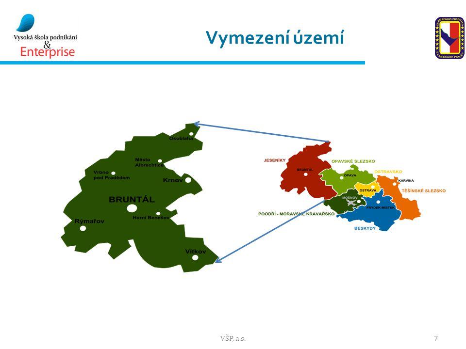 Vymezení území VŠP, a.s.