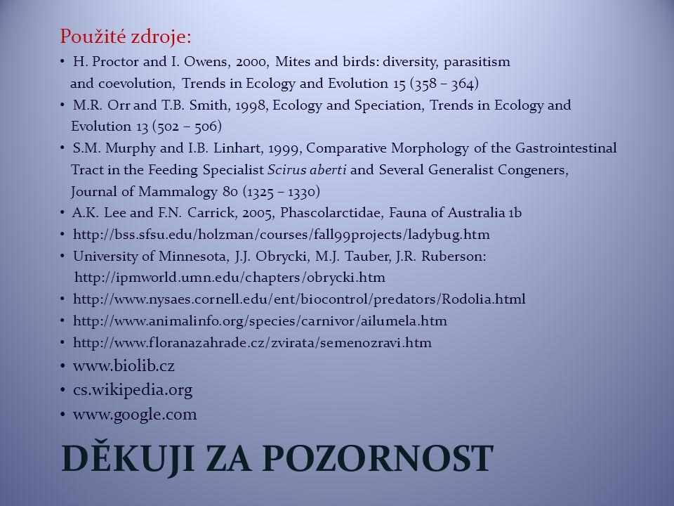 Děkuji za pozornost Použité zdroje: www.biolib.cz cs.wikipedia.org