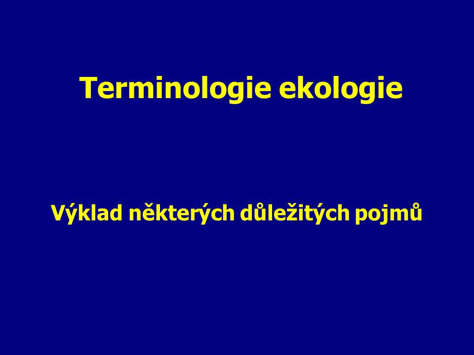 Terminologie ekologie
