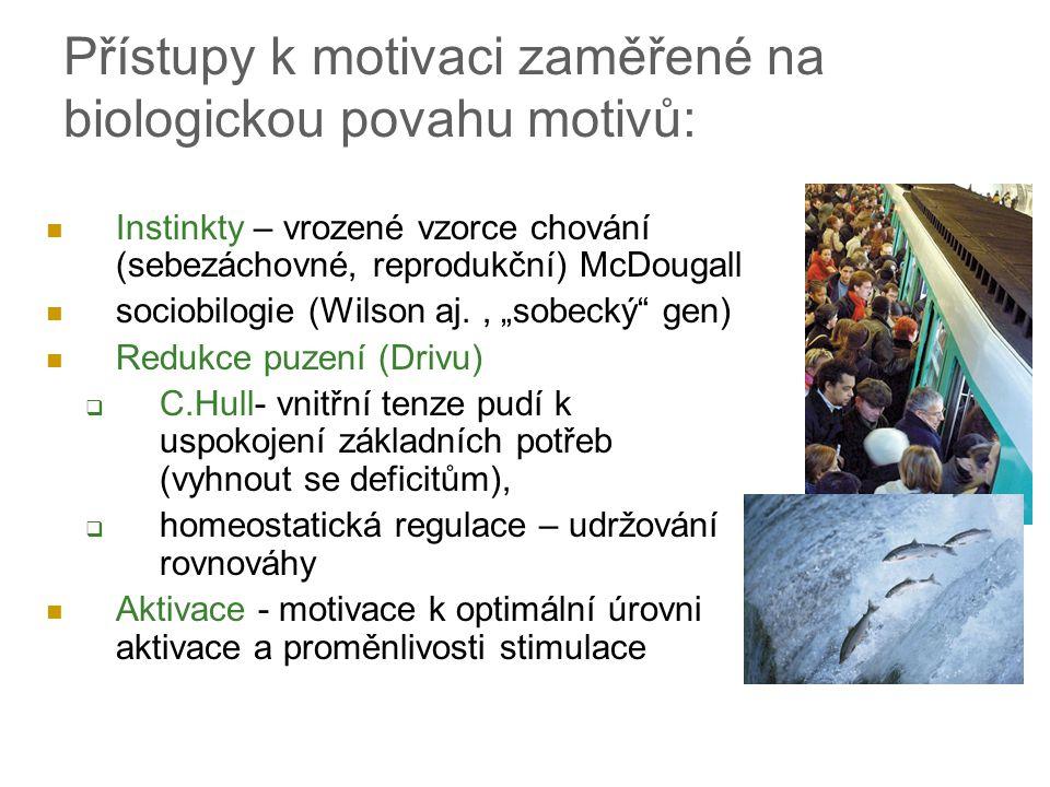 Přístupy k motivaci zaměřené na biologickou povahu motivů: