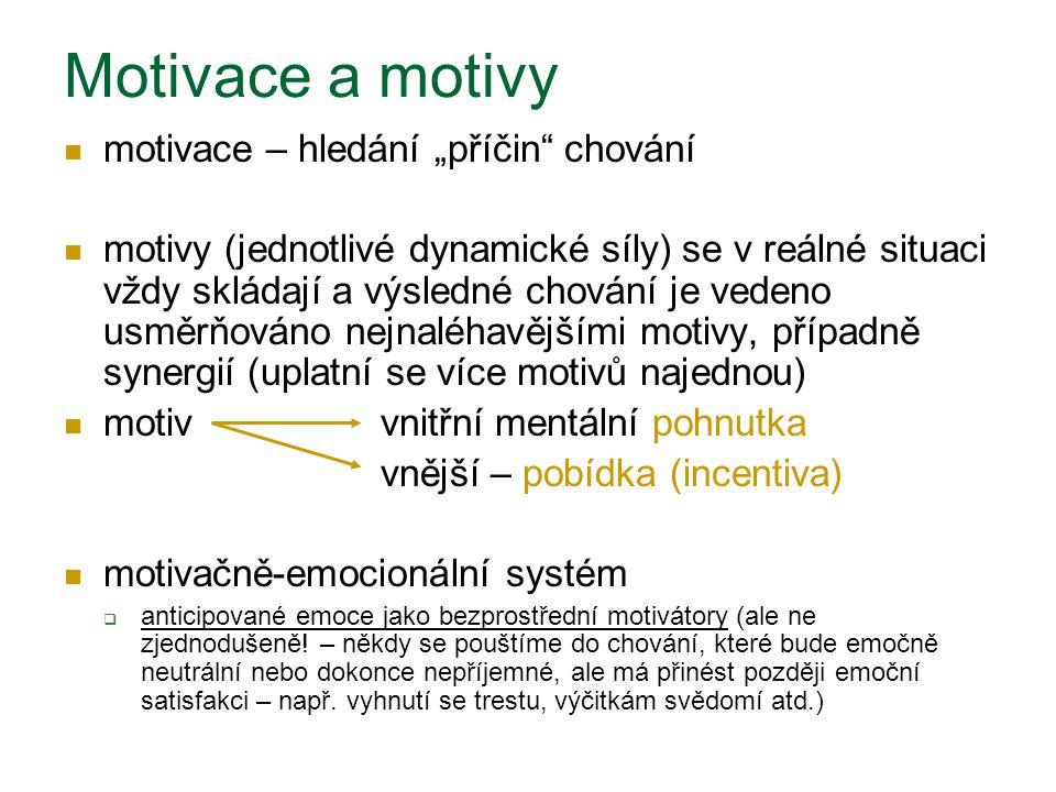 """Motivace a motivy motivace – hledání """"příčin chování"""