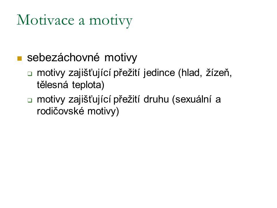 Motivace a motivy sebezáchovné motivy