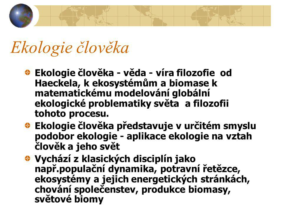Ekologie člověka