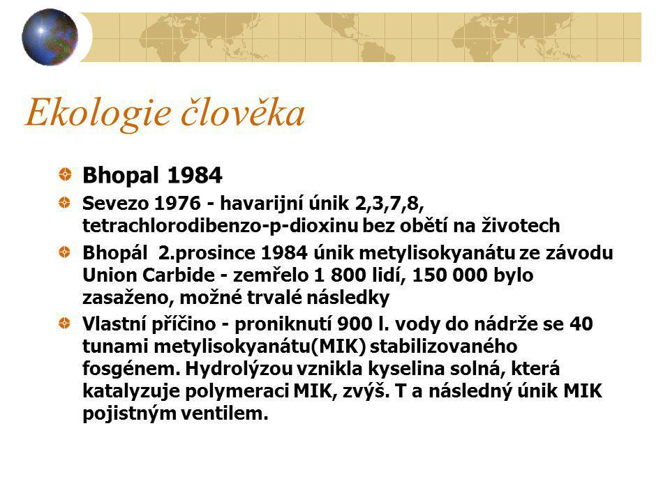 Ekologie člověka Bhopal 1984