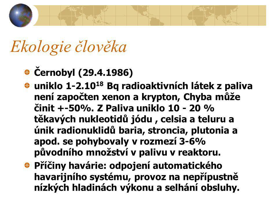 Ekologie člověka Černobyl (29.4.1986)