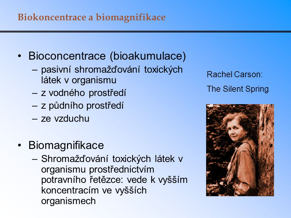 Bioconcentrace (bioakumulace)