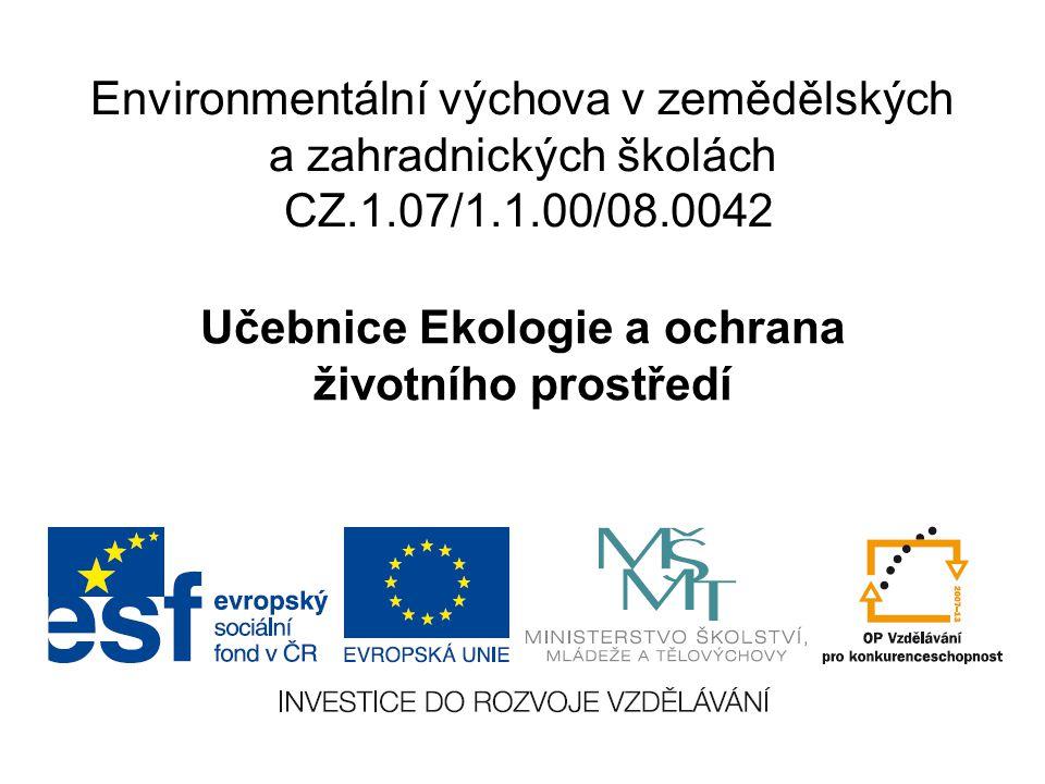 Učebnice Ekologie a ochrana životního prostředí