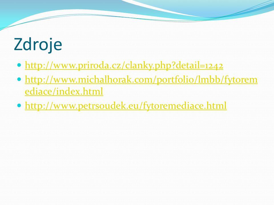 Zdroje http://www.priroda.cz/clanky.php detail=1242