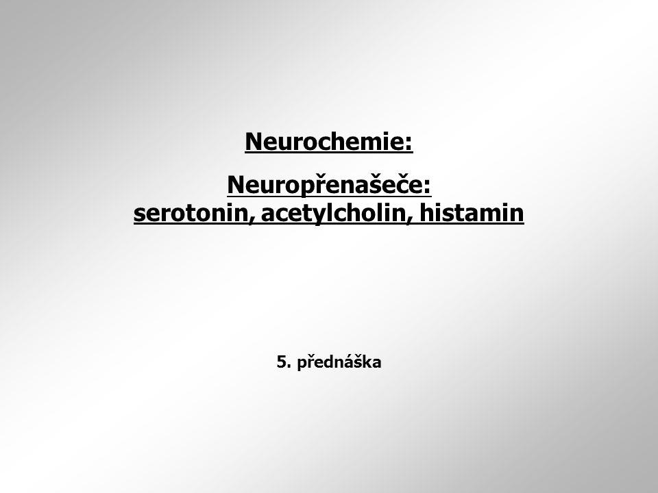 Neuropřenašeče: serotonin, acetylcholin, histamin