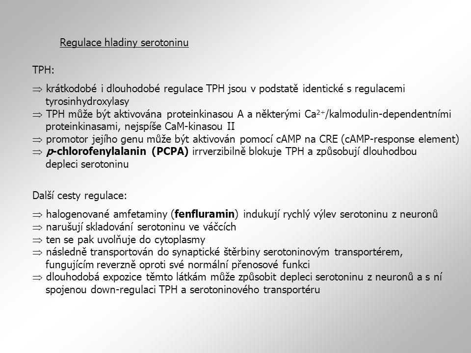 Regulace hladiny serotoninu