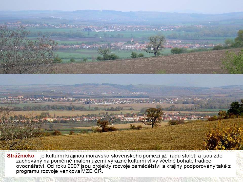 Strážnicko – je kulturní krajinou moravsko-slovenského pomezí již řadu století a jsou zde zachovány na poměrně malém území výrazné kulturní vlivy včetně bohaté tradice ovocnářství.