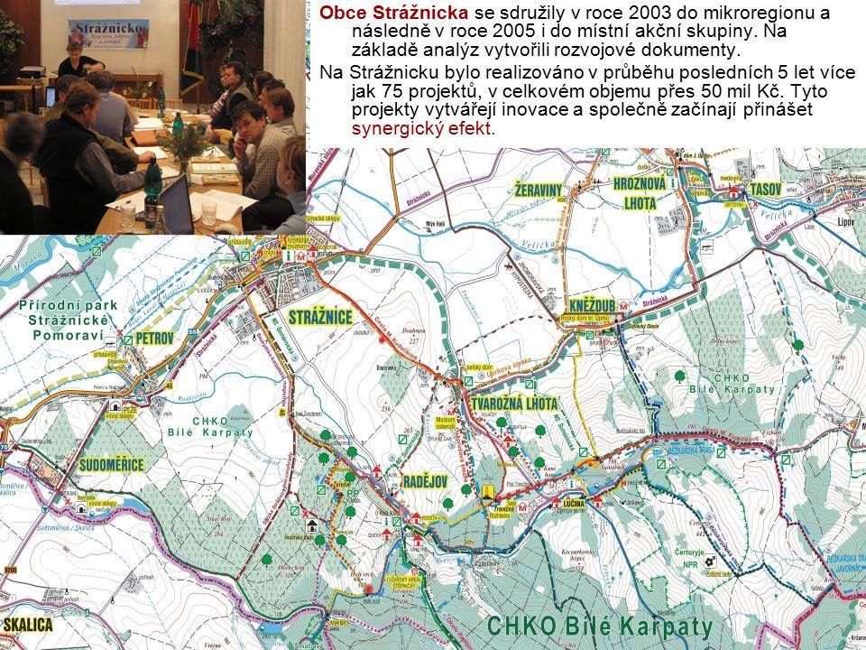 Obce Strážnicka se sdružily v roce 2003 do mikroregionu a následně v roce 2005 i do místní akční skupiny. Na základě analýz vytvořili rozvojové dokumenty.