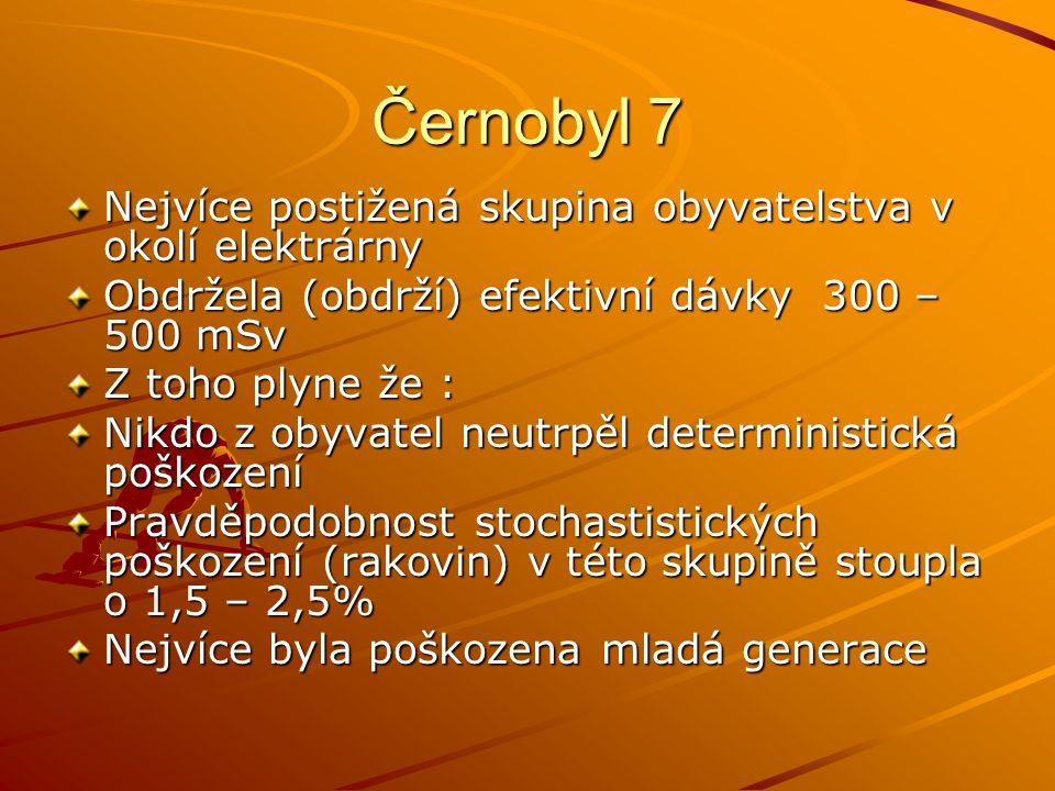 Černobyl 7 Nejvíce postižená skupina obyvatelstva v okolí elektrárny