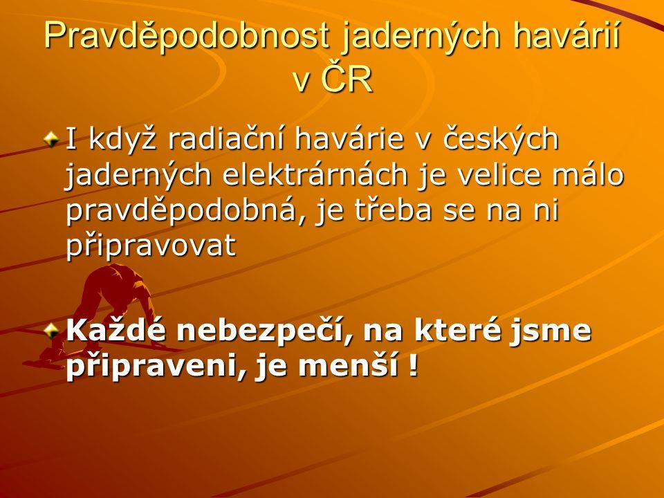 Pravděpodobnost jaderných havárií v ČR