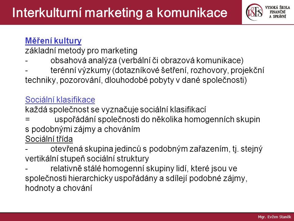 Interkulturní marketing a komunikace