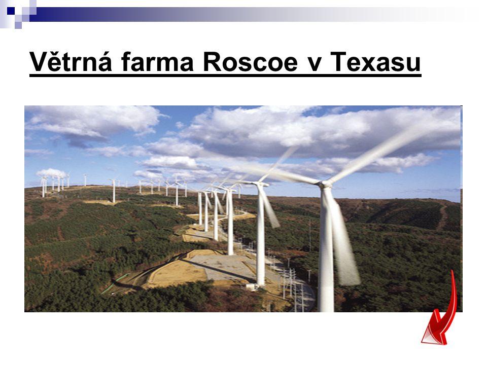 Větrná farma Roscoe v Texasu