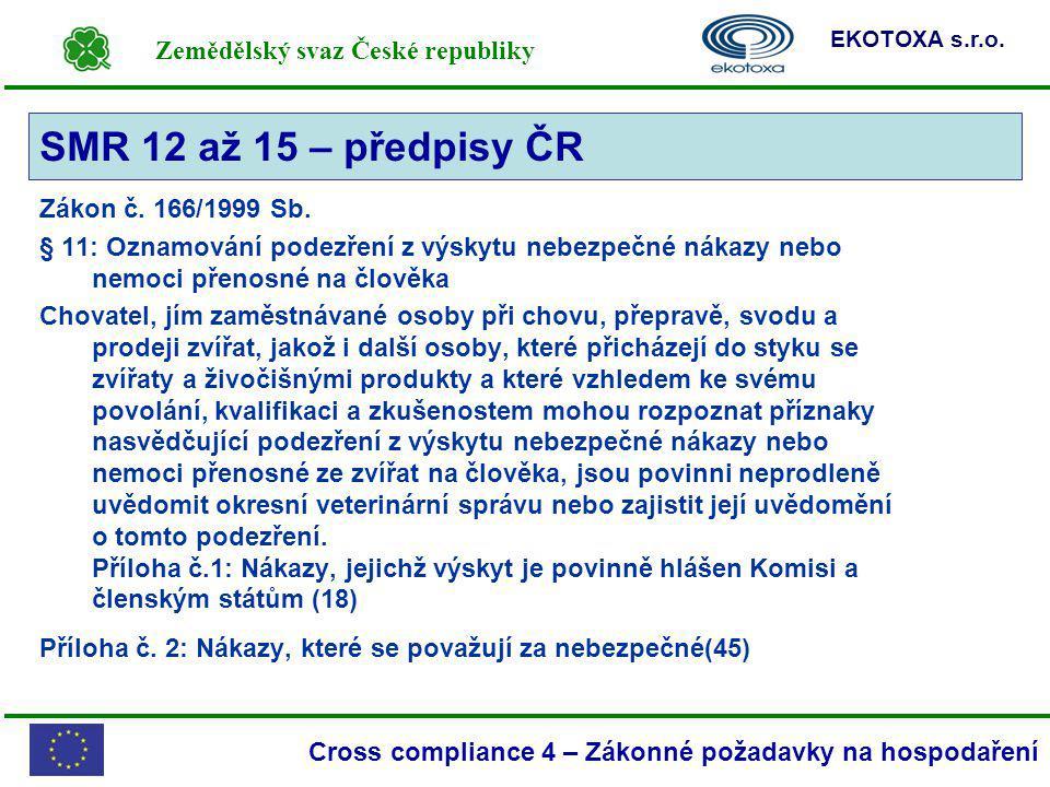 SMR 12 až 15 – předpisy ČR Zákon č. 166/1999 Sb.