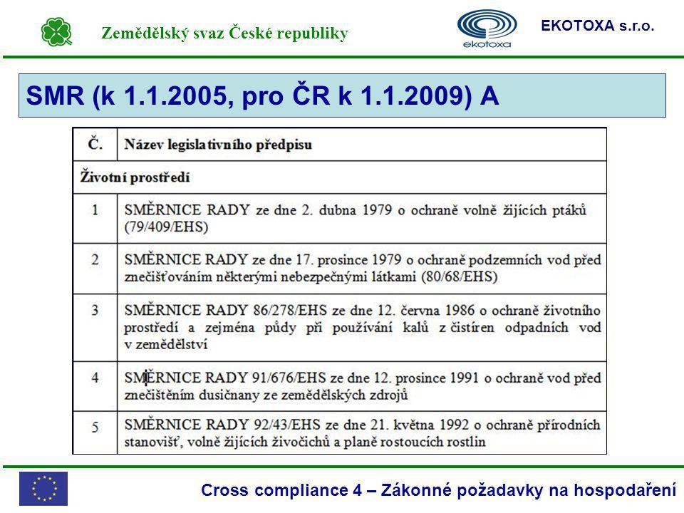 SMR (k 1.1.2005, pro ČR k 1.1.2009) A