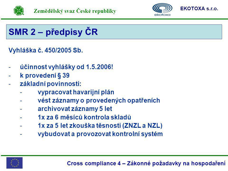 SMR 2 – předpisy ČR SMR 2 Vyhláška č. 450/2005 Sb.