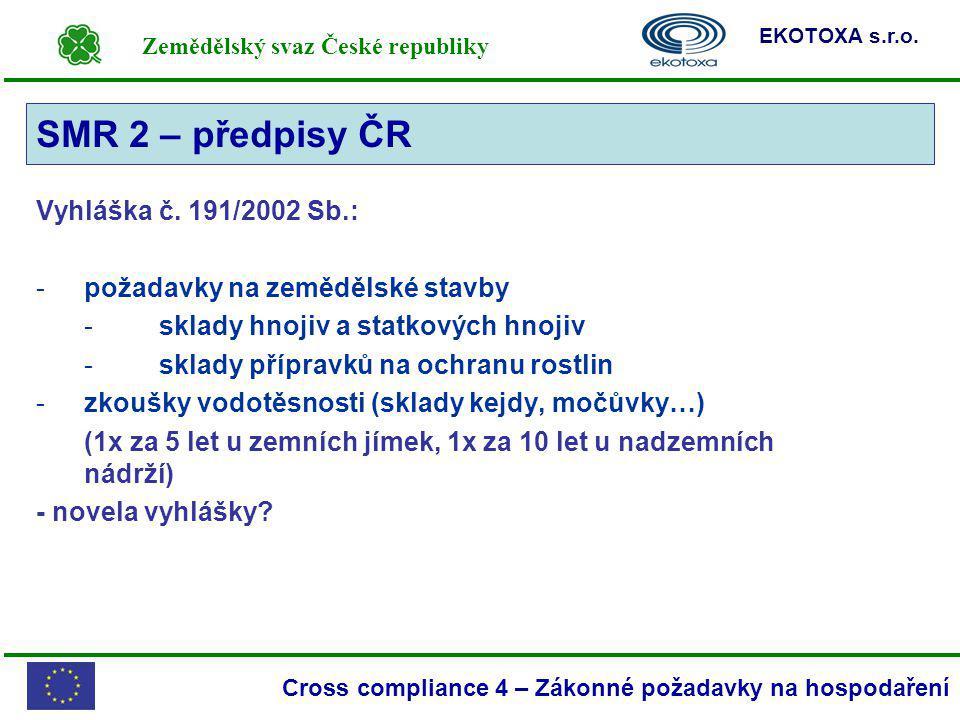 SMR 2 – předpisy ČR SMR 2 Vyhláška č. 191/2002 Sb.: