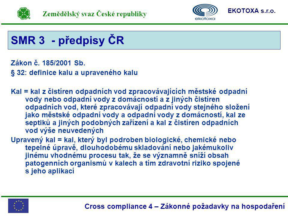 SMR 3 - předpisy ČR SMR 3 Zákon č. 185/2001 Sb.