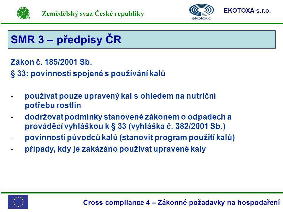 SMR 3 – předpisy ČR SMR 3 Zákon č. 185/2001 Sb.