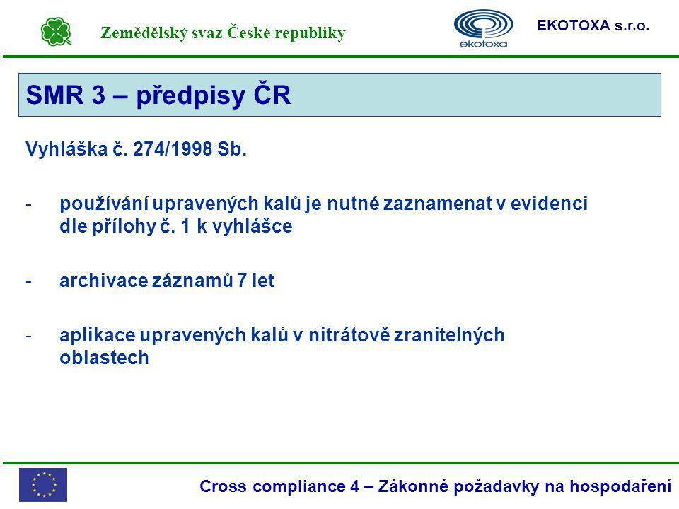 SMR 3 – předpisy ČR SMR 3 Vyhláška č. 274/1998 Sb.