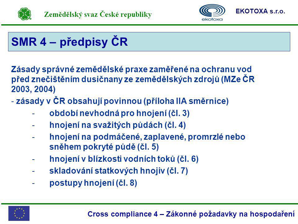 SMR 4 – předpisy ČR SMR 4.