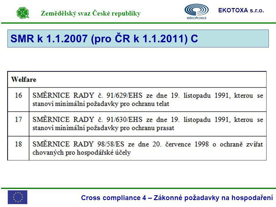 SMR k 1.1.2007 (pro ČR k 1.1.2011) C