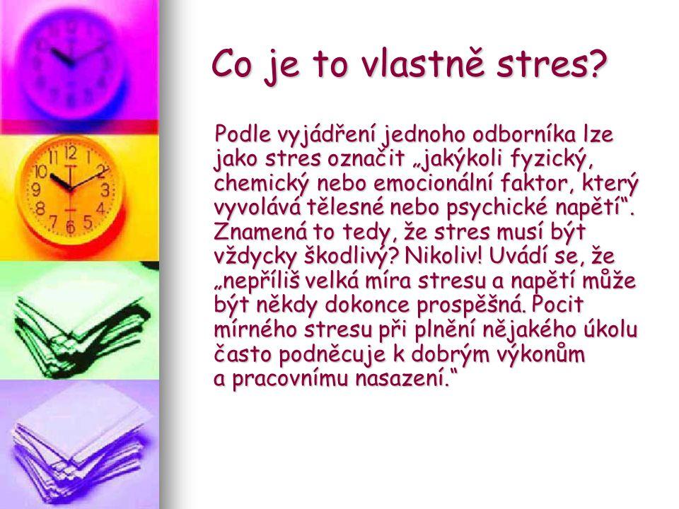 Co je to vlastně stres