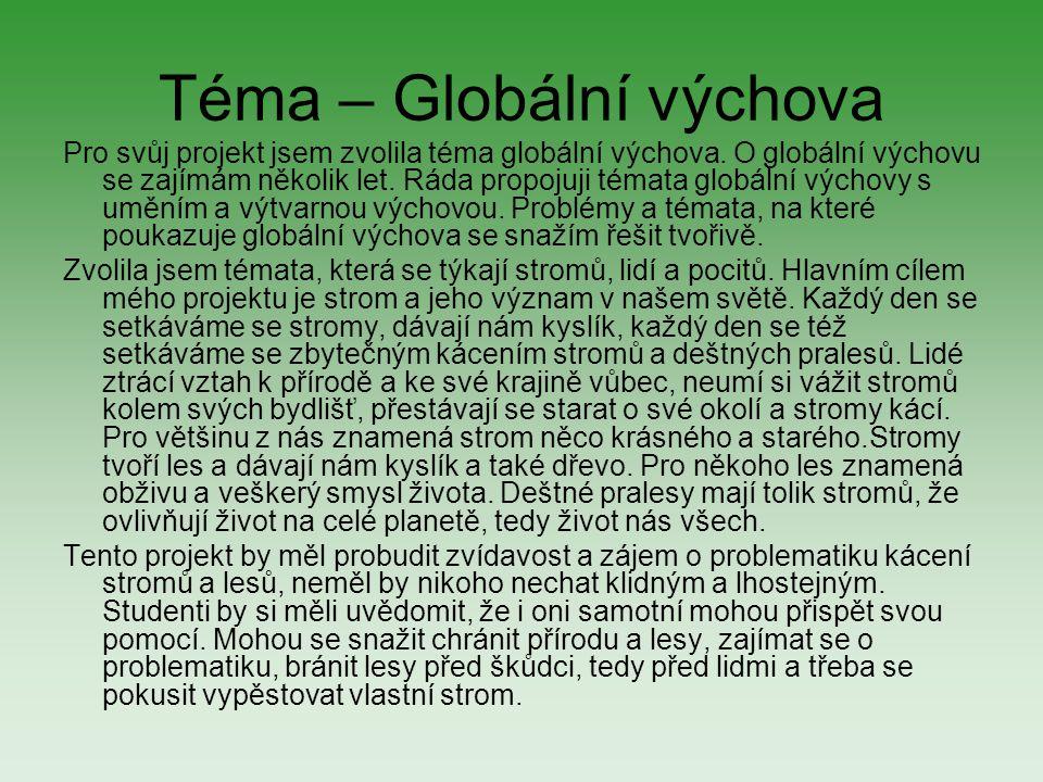 Téma – Globální výchova