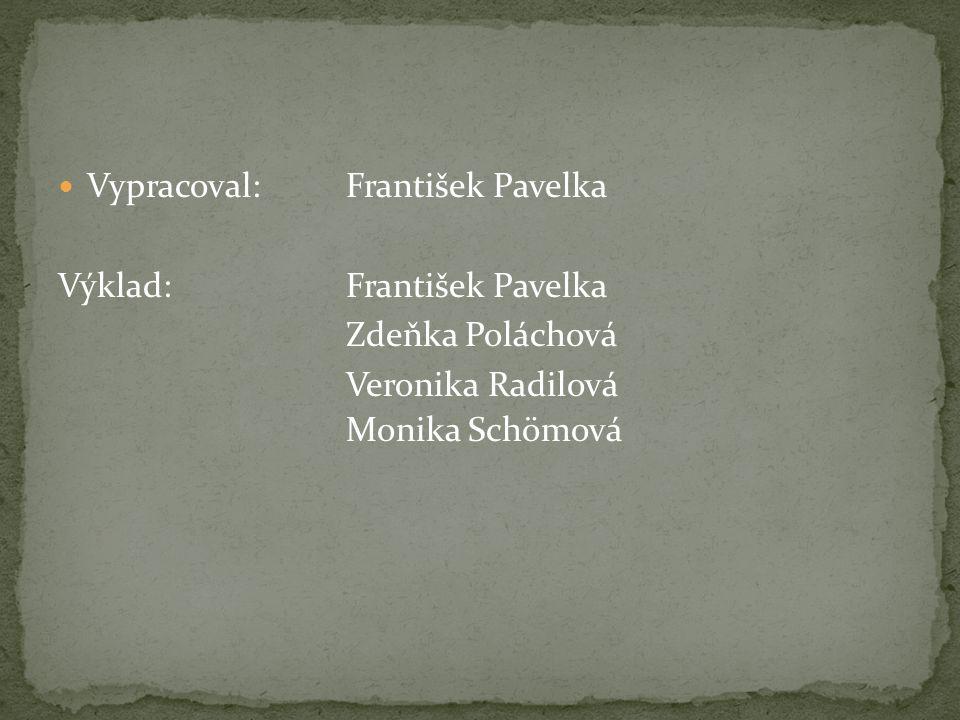 Vypracoval: František Pavelka Výklad: František Pavelka