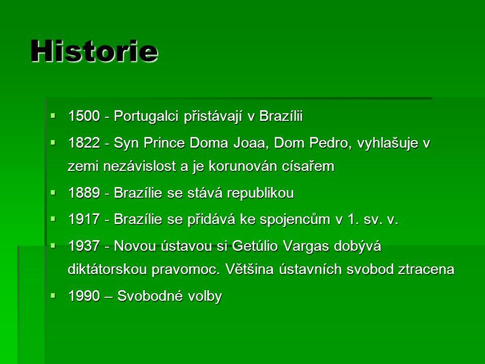Historie 1500 - Portugalci přistávají v Brazílii