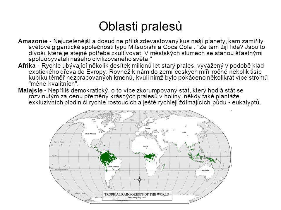 Oblasti pralesů