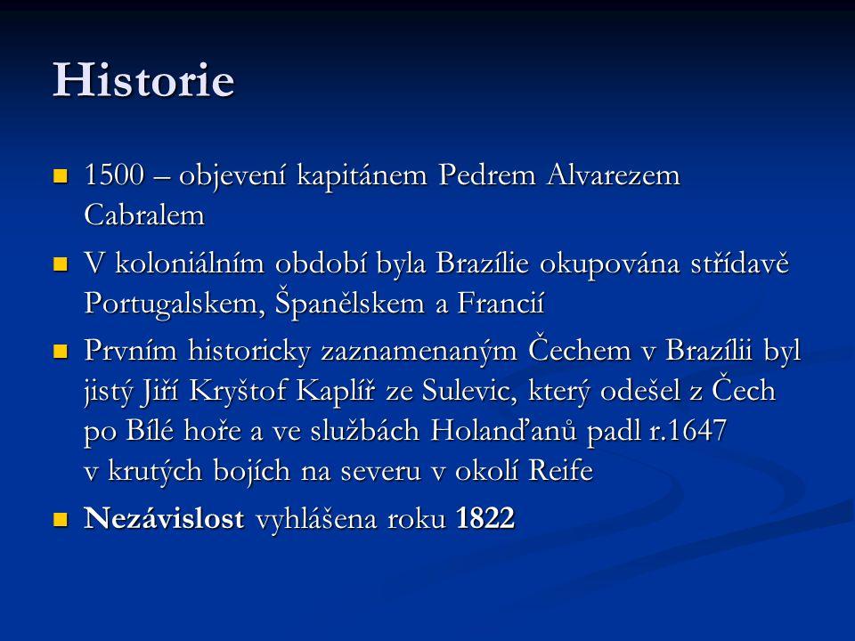 Historie 1500 – objevení kapitánem Pedrem Alvarezem Cabralem