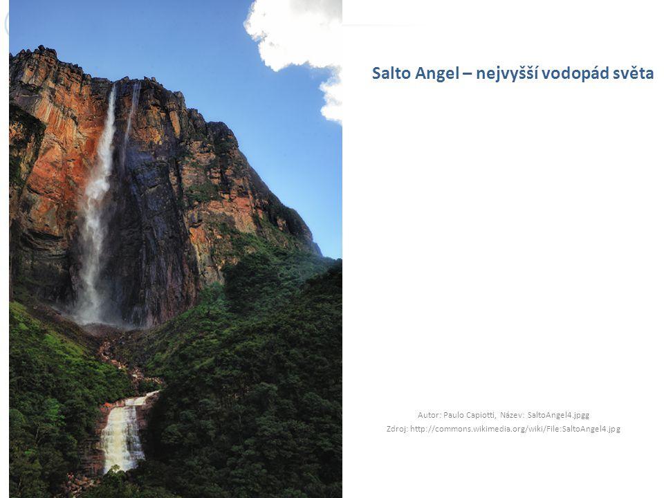Salto Angel – nejvyšší vodopád světa