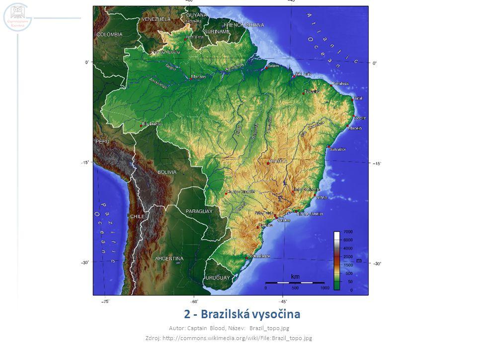 2 - Brazilská vysočina Autor: Captain Blood, Název: Brazil_topo.jpg