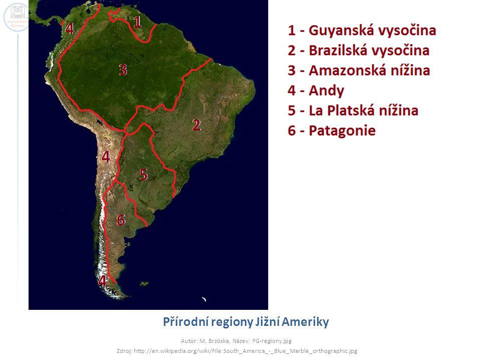 Přírodní regiony Jižní Ameriky