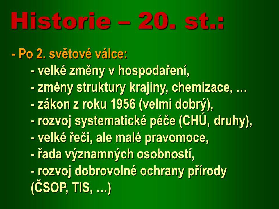 Historie – 20. st.: - Po 2. světové válce:
