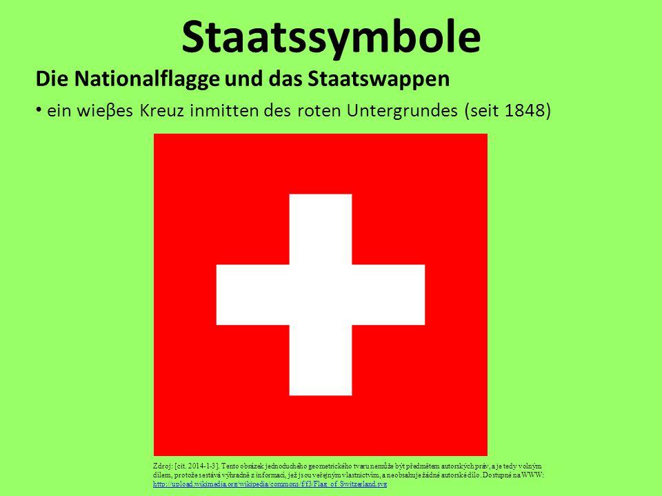 Staatssymbole Die Nationalflagge und das Staatswappen