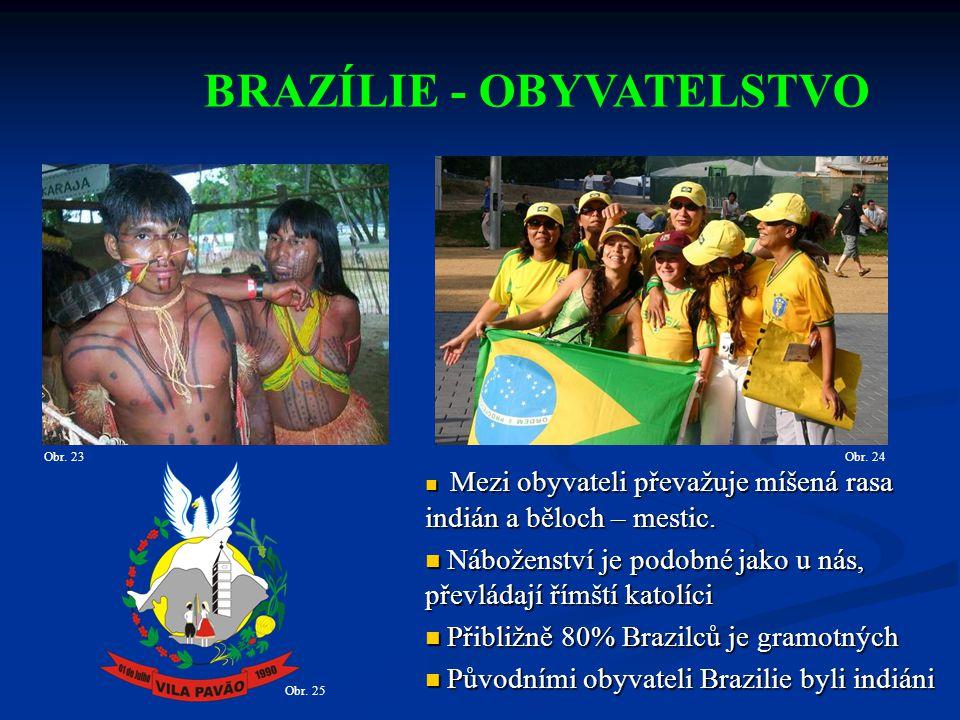 BRAZÍLIE - OBYVATELSTVO