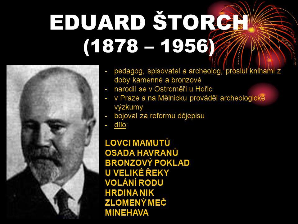 EDUARD ŠTORCH (1878 – 1956) LOVCI MAMUTŮ OSADA HAVRANŮ BRONZOVÝ POKLAD