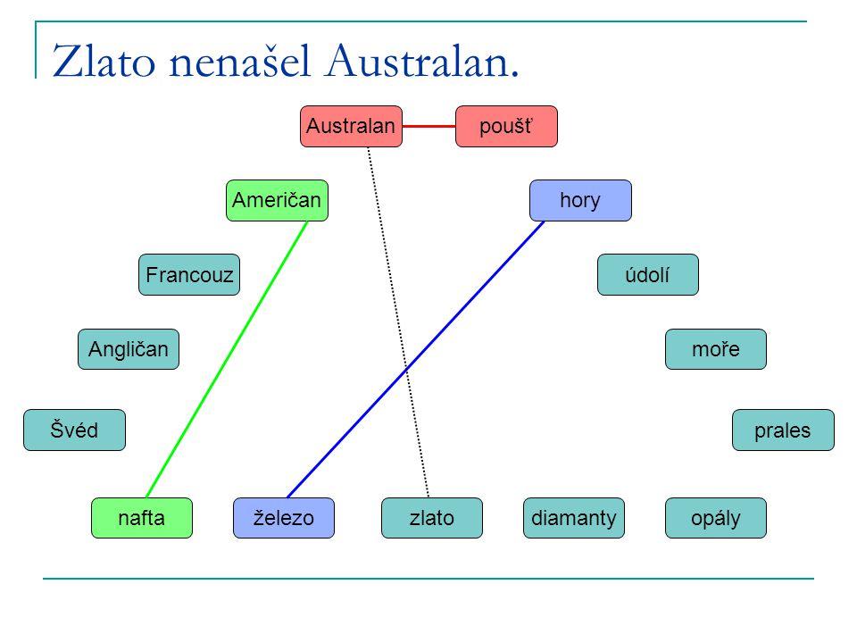 Zlato nenašel Australan.