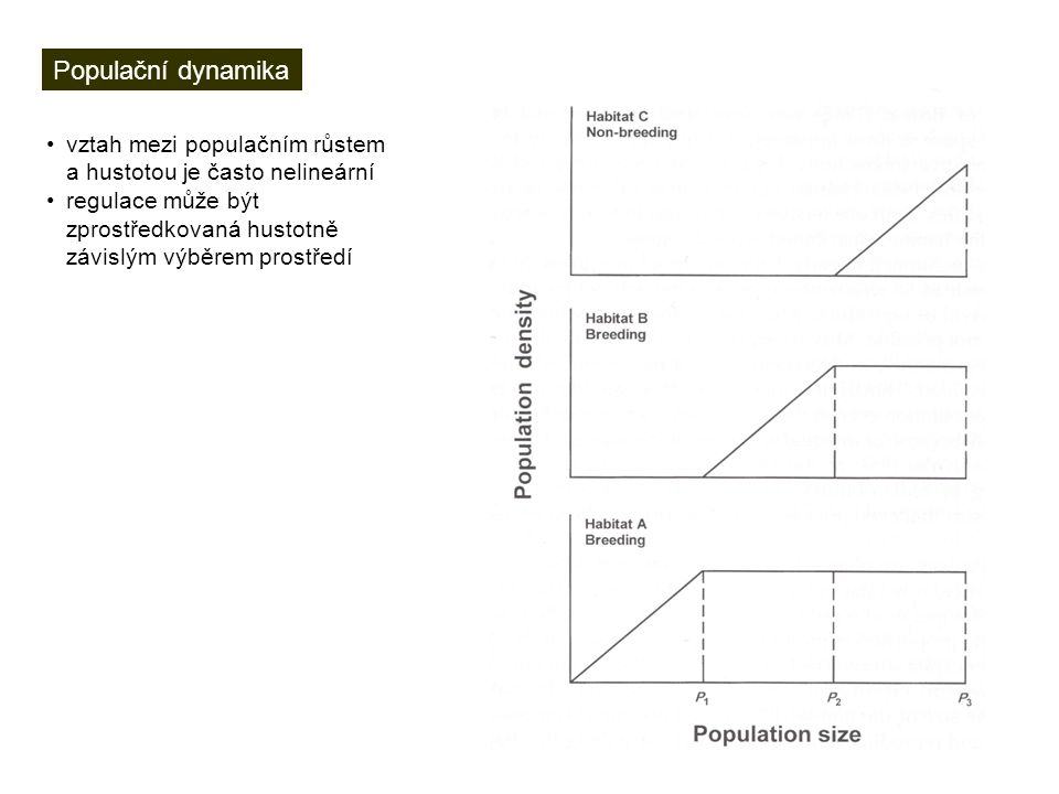 Populační dynamika vztah mezi populačním růstem a hustotou je často nelineární.