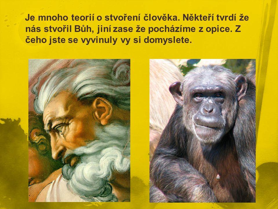 Je mnoho teorií o stvoření člověka