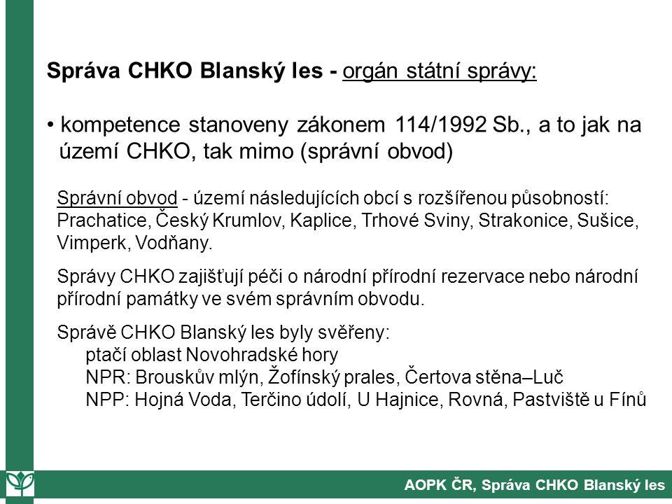 Správa CHKO Blanský les - orgán státní správy: