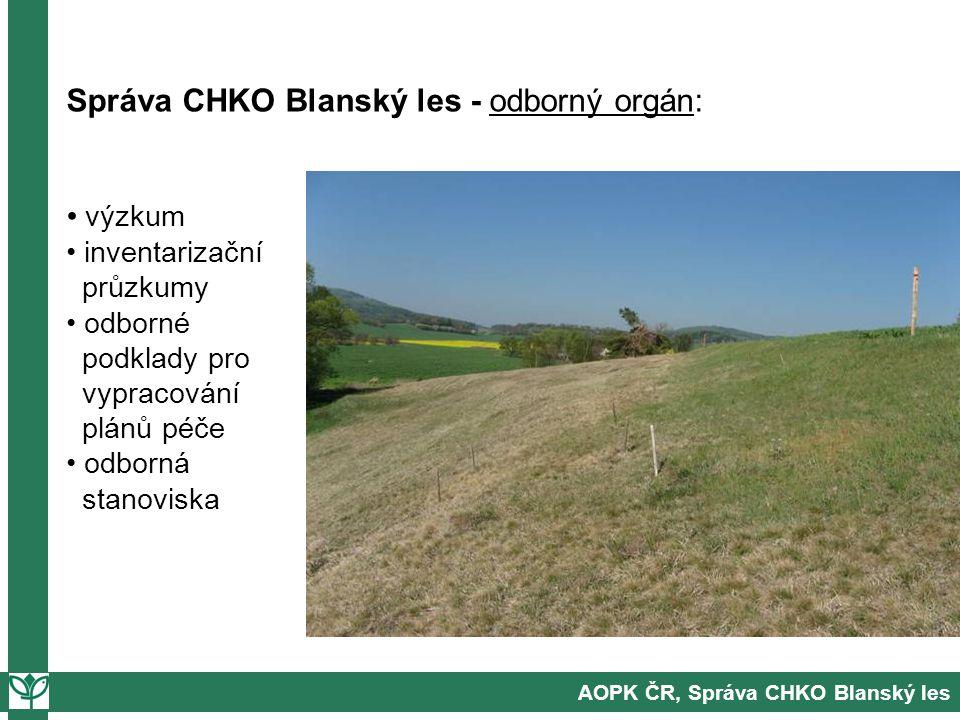 Správa CHKO Blanský les - odborný orgán: